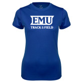 Ladies Syntrel Performance Royal Tee-EMU Track & Field