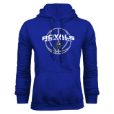 Royal Fleece Hoodie-Royals Basketball Arched w/ Ball