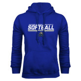 Royal Fleece Hoodie-Softball Stencil