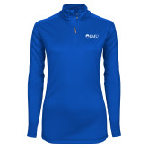 Ladies Syntrel Interlock Royal 1/4 Zip-Institutional Logos