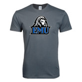 Next Level SoftStyle Charcoal T Shirt-EMU w/ Lion Head