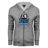 ENZA Ladies Grey Fleece Full Zip Hoodie-Grandma