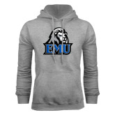 Grey Fleece Hoodie-EMU w/ Lion Head