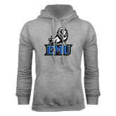 Grey Fleece Hoodie-EMU w/ Full Lion