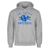 Grey Fleece Hoodie-Softball Design