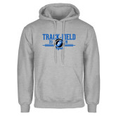 Grey Fleece Hoodie-Track & Field Design