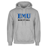 Grey Fleece Hoodie-EMU Basketball