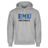 Grey Fleece Hoodie-EMU Softball