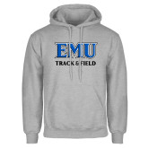 Grey Fleece Hoodie-EMU Track & Field
