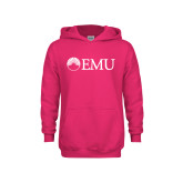 Youth Raspberry Fleece Hoodie-Institutional Logos