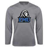 Performance Steel Longsleeve Shirt-EMU w/ Lion Head