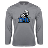Performance Steel Longsleeve Shirt-EMU w/ Full Lion
