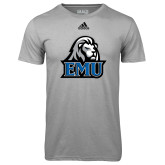 Adidas Climalite Sport Grey Ultimate Performance Tee-EMU w/ Lion Head
