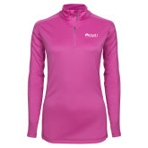 Ladies Syntrel Interlock Raspberry 1/4 Zip-Institutional Logos