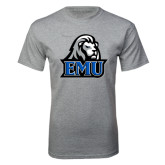 Grey T Shirt-EMU w/ Lion Head