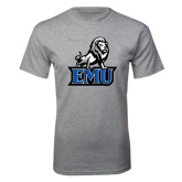 Grey T Shirt-EMU w/ Full Lion