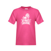 Youth Fuchsia T Shirt-Official Logo