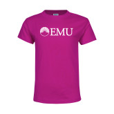Youth Cyber Pink T Shirt-Institutional Logos