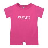 Bubble Gum Pink Infant Romper-Institutional Logos