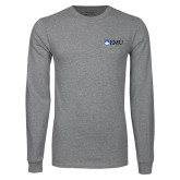 Grey Long Sleeve T Shirt-Institutional Logos