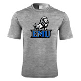 Performance Grey Heather Contender Tee-EMU w/ Full Lion
