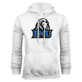 White Fleece Hoodie-EMU w/ Lion Head