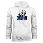White Fleece Hoodie-EMU w/ Full Lion