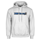 White Fleece Hoodie-Institutional Logos