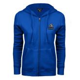 ENZA Ladies Royal Fleece Full Zip Hoodie-EMU w/ Lion Head