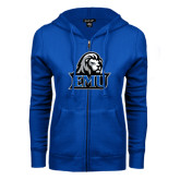 ENZA Ladies Royal Fleece Full Zip Hoodie-EMU w/ Lion Head