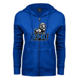 ENZA Ladies Royal Fleece Full Zip Hoodie-EMU w/ Full Lion
