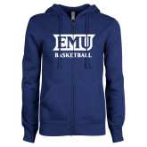ENZA Ladies Royal Fleece Full Zip Hoodie-EMU Basketball