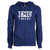 ENZA Ladies Royal Fleece Full Zip Hoodie-EMU Soccer