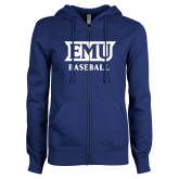 ENZA Ladies Royal Fleece Full Zip Hoodie-EMU Baseball