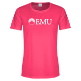 Ladies Performance Hot Pink Tee-Institutional Logos