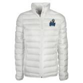 Columbia Lake 22 Ladies White Jacket-Official Logo