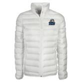 Columbia Mighty LITE Ladies White Jacket-EMU w/ Lion Head