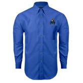 Mens Royal Oxford Long Sleeve Shirt-Official Logo