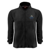 Fleece Full Zip Black Jacket-EMU w/ Lion Head