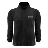Fleece Full Zip Black Jacket-University Logo