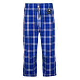Royal/White Flannel Pajama Pant-EMU w/ Lion Head