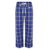 Royal/White Flannel Pajama Pant-Institutional Logos