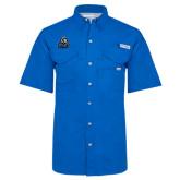 Columbia Bonehead Royal Short Sleeve Shirt-EMU w/ Lion Head