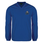 V Neck Royal Raglan Windshirt-EMU w/ Lion Head