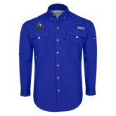 Columbia Bahama II Royal Long Sleeve Shirt-EMU w/ Lion Head