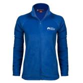 Ladies Fleece Full Zip Royal Jacket-University Logo