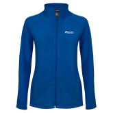 Ladies Fleece Full Zip Royal Jacket-Institutional Logos