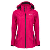 Ladies Dark Fuchsia Waterproof Jacket-Institutional Logos