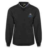 Black Executive Windshirt-EMU w/ Lion Head