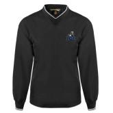 Black Executive Windshirt-EMU w/ Full Lion
